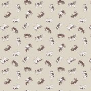 Lewis & Irene Small Things on The Farm - 5419 - Friesian Cows on Pale Taupe - SM4.1 - Cotton Fabric